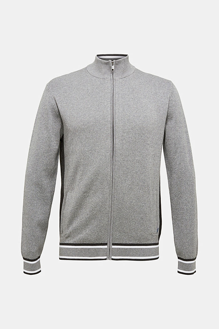 Zipper-Cardigan aus 100% Organic Cotton