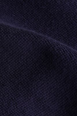 Zip-up cardigan made of 100% organic cotton, NAVY 3, detail