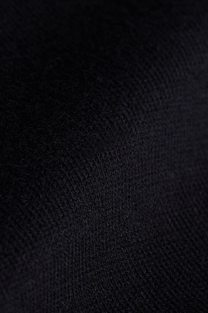 Polo neck jumper with cashmere, BLACK, detail image number 4