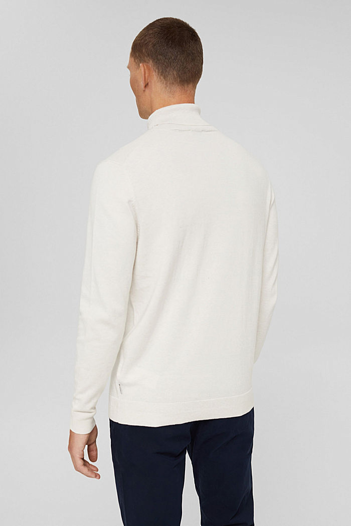 Mit Kaschmir: Rollkragenpullover, OFF WHITE, detail image number 3