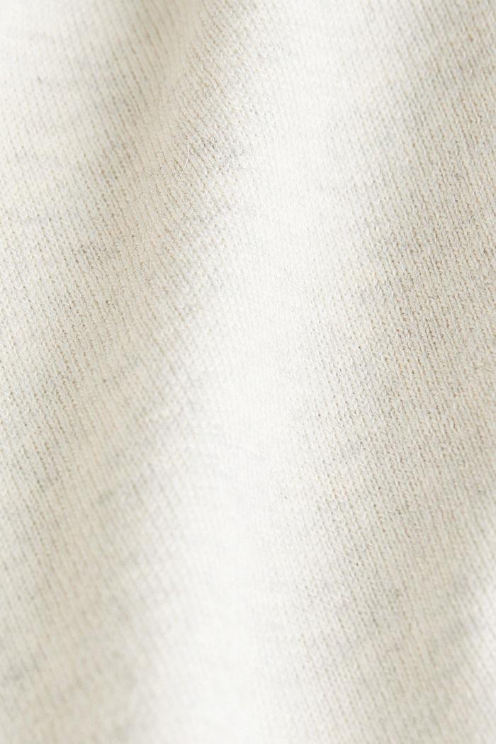 Polo neck jumper with cashmere, LIGHT BEIGE, detail image number 4