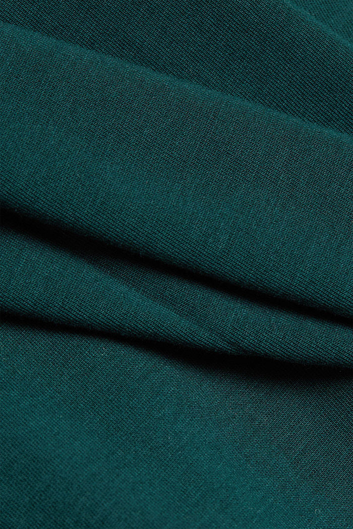 Polo neck jumper with cashmere, BOTTLE GREEN, detail image number 4