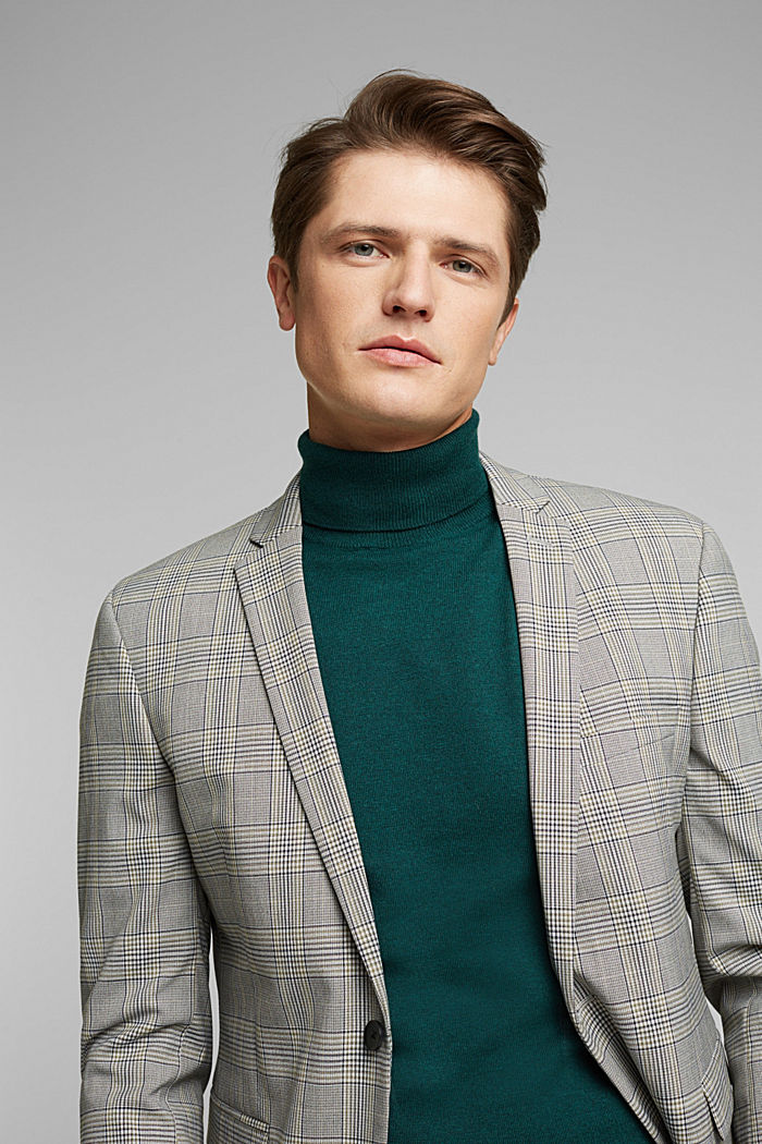 Polo neck jumper with cashmere, BOTTLE GREEN, detail image number 5