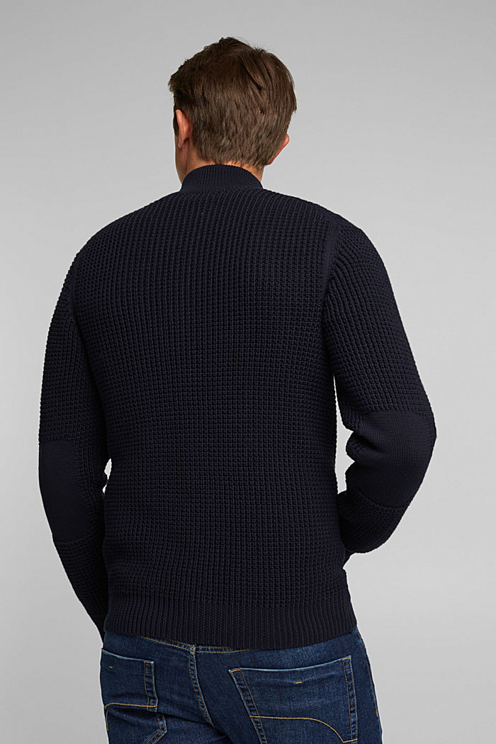 Cardigan made of 100% organic cotton, NAVY, detail image number 3