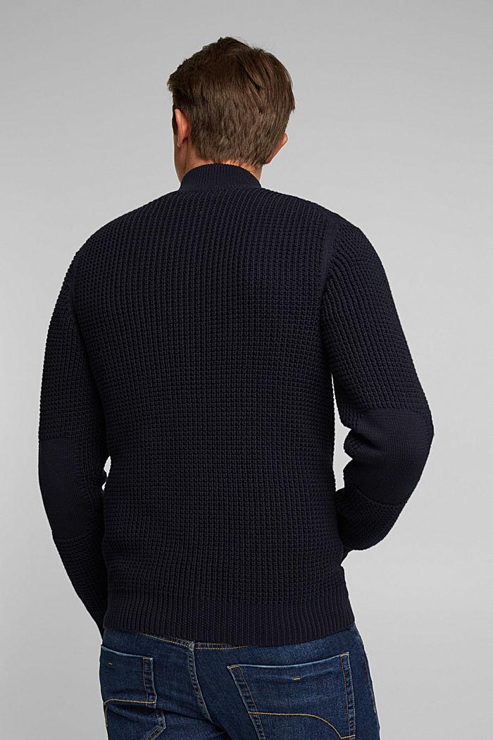 Cardigan aus 100% Organic Cotton, NAVY, detail image number 3