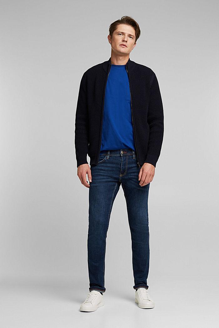 Cardigan aus 100% Organic Cotton, NAVY, detail image number 1