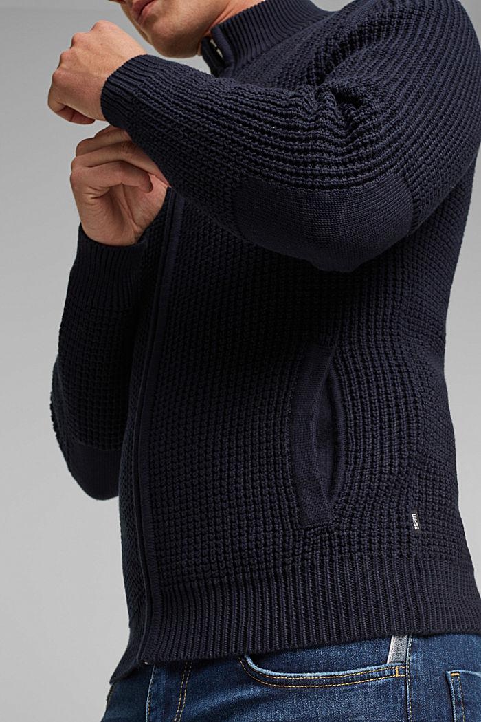 Cardigan aus 100% Organic Cotton, NAVY, detail image number 2