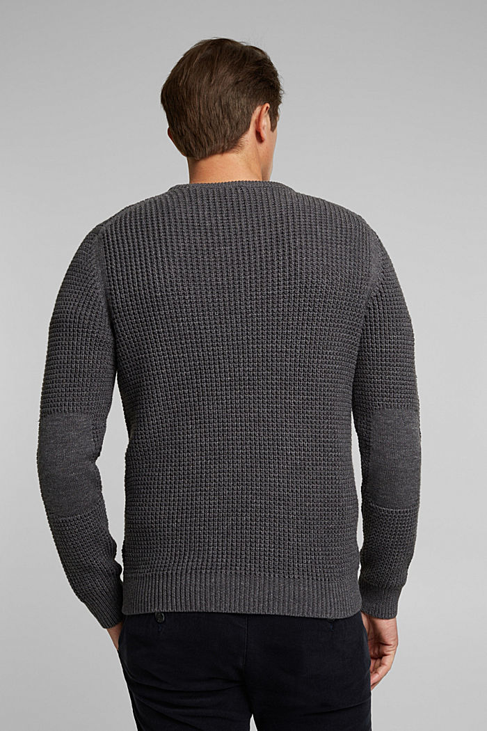 Jumper made of 100% organic cotton, DARK GREY, detail image number 3