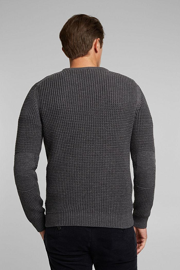 Pullover aus 100% Organic Cotton, DARK GREY, detail image number 3