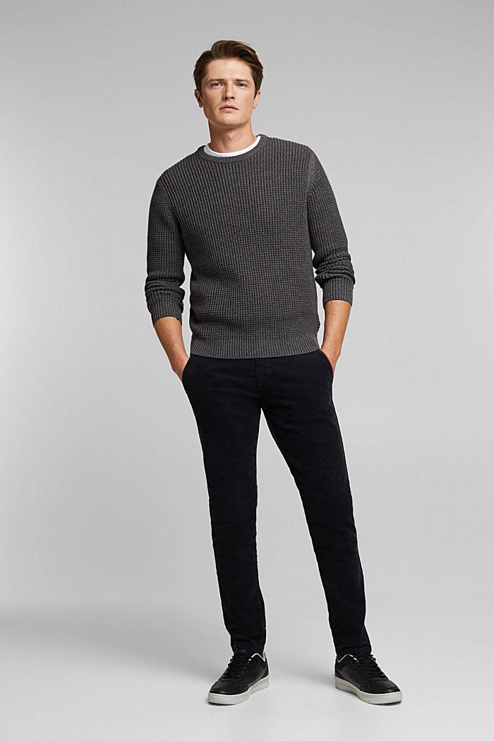 Pullover aus 100% Organic Cotton, DARK GREY, detail image number 1