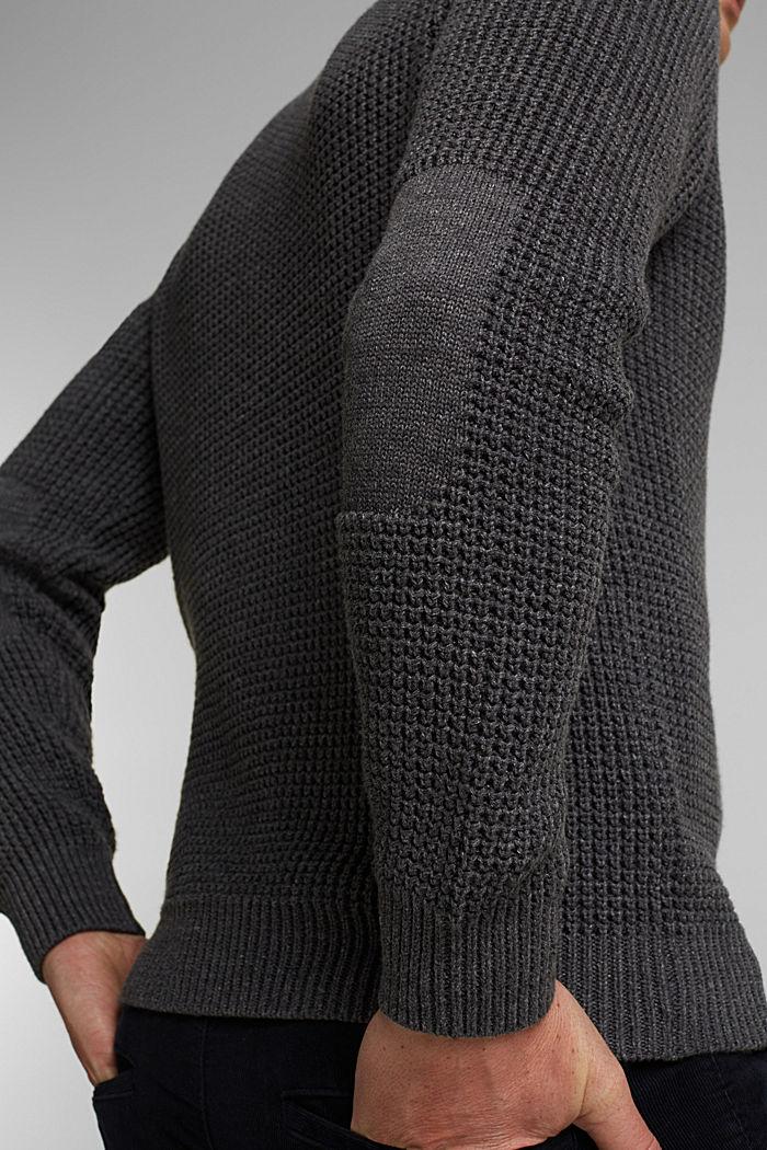 Pullover aus 100% Organic Cotton, DARK GREY, detail image number 2
