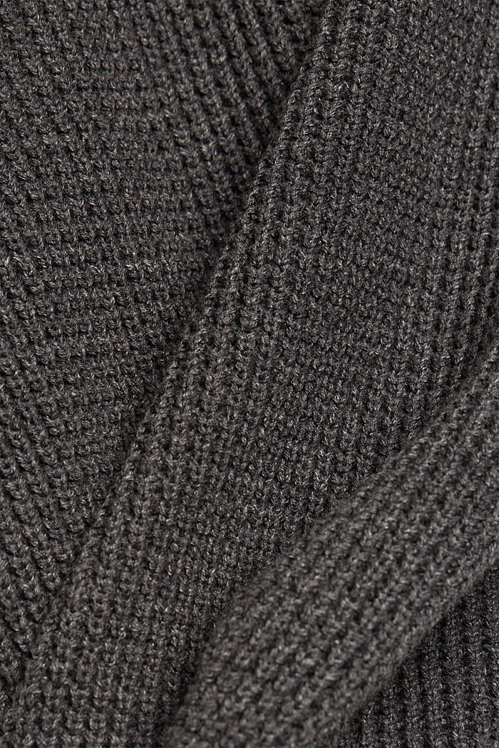 Pullover aus 100% Organic Cotton, DARK GREY, detail image number 4