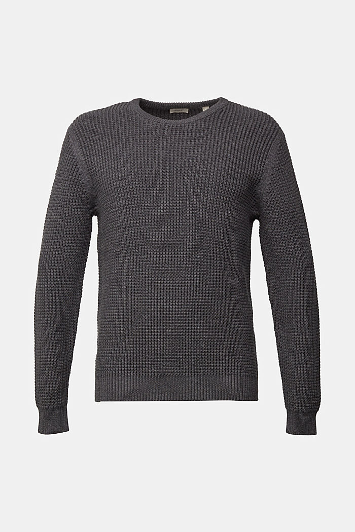 Jumper made of 100% organic cotton, DARK GREY, overview
