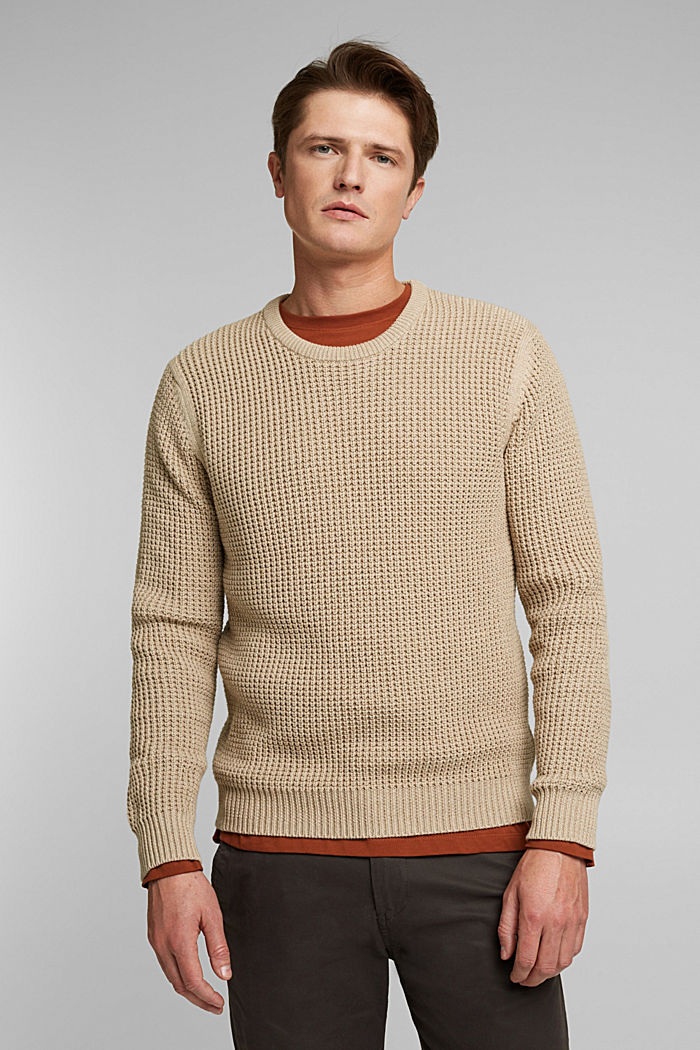 Jumper made of 100% organic cotton, LIGHT BEIGE, detail image number 0
