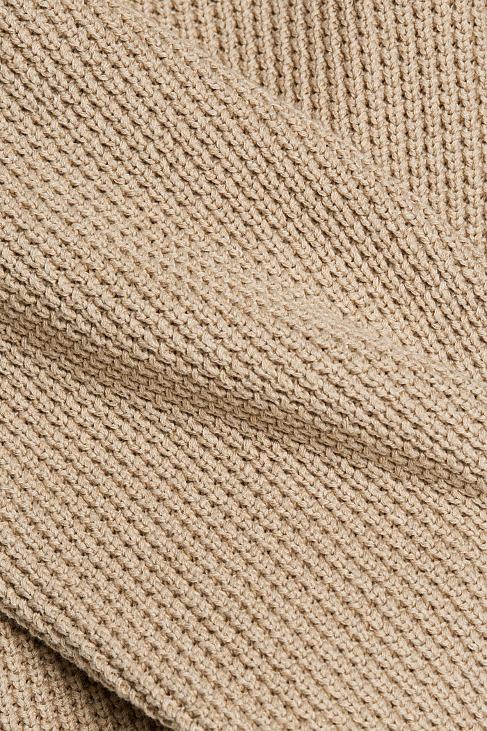 Jumper made of 100% organic cotton, LIGHT BEIGE, detail image number 4