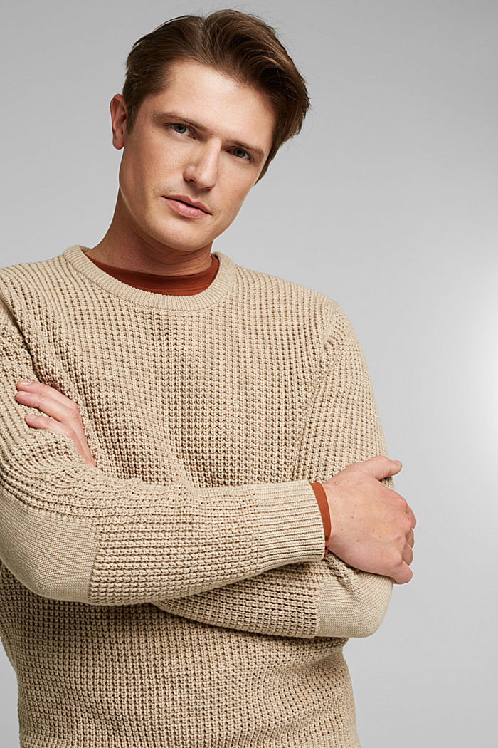 Jumper made of 100% organic cotton, LIGHT BEIGE, detail image number 5
