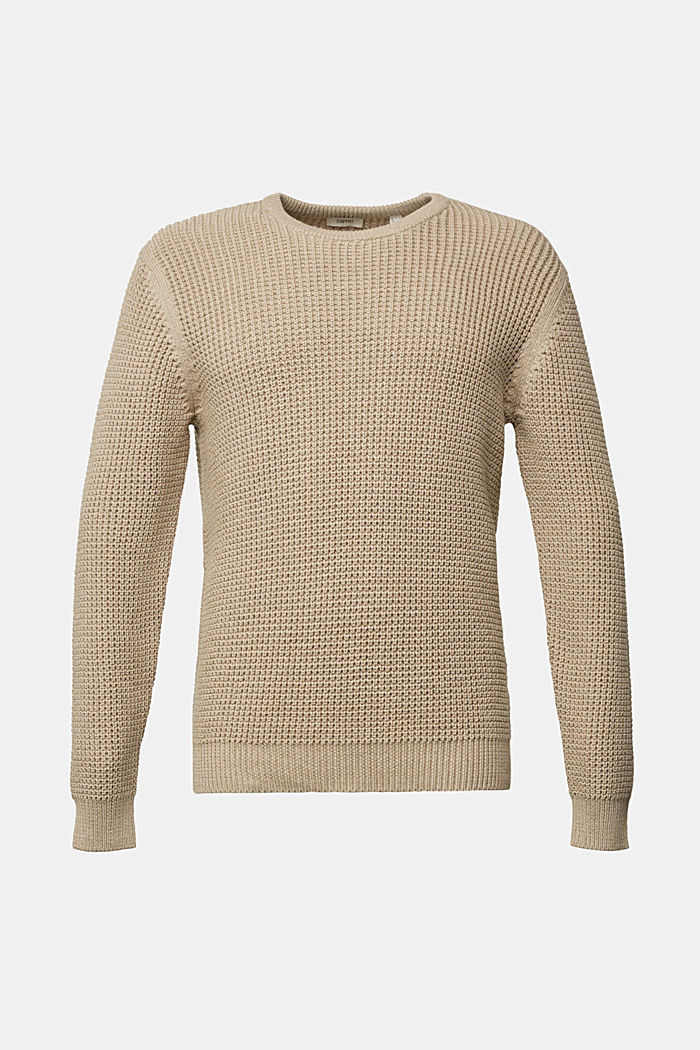 Jumper made of 100% organic cotton, LIGHT BEIGE, detail image number 6