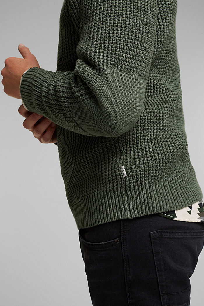 Jumper made of 100% organic cotton, LIGHT KHAKI, detail image number 2