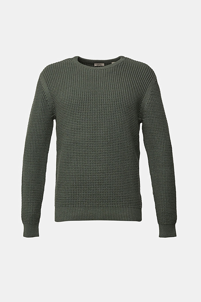 Jumper made of 100% organic cotton, LIGHT KHAKI, detail image number 7
