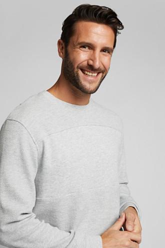 Textured sweatshirt, 100% organic cotton