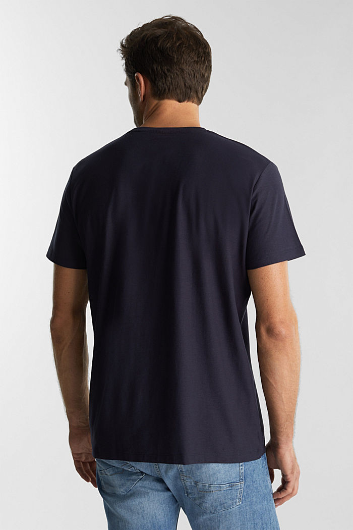 Jersey top in 100% organic cotton, NAVY, detail image number 3