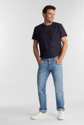 Jersey top in 100% organic cotton, NAVY, detail