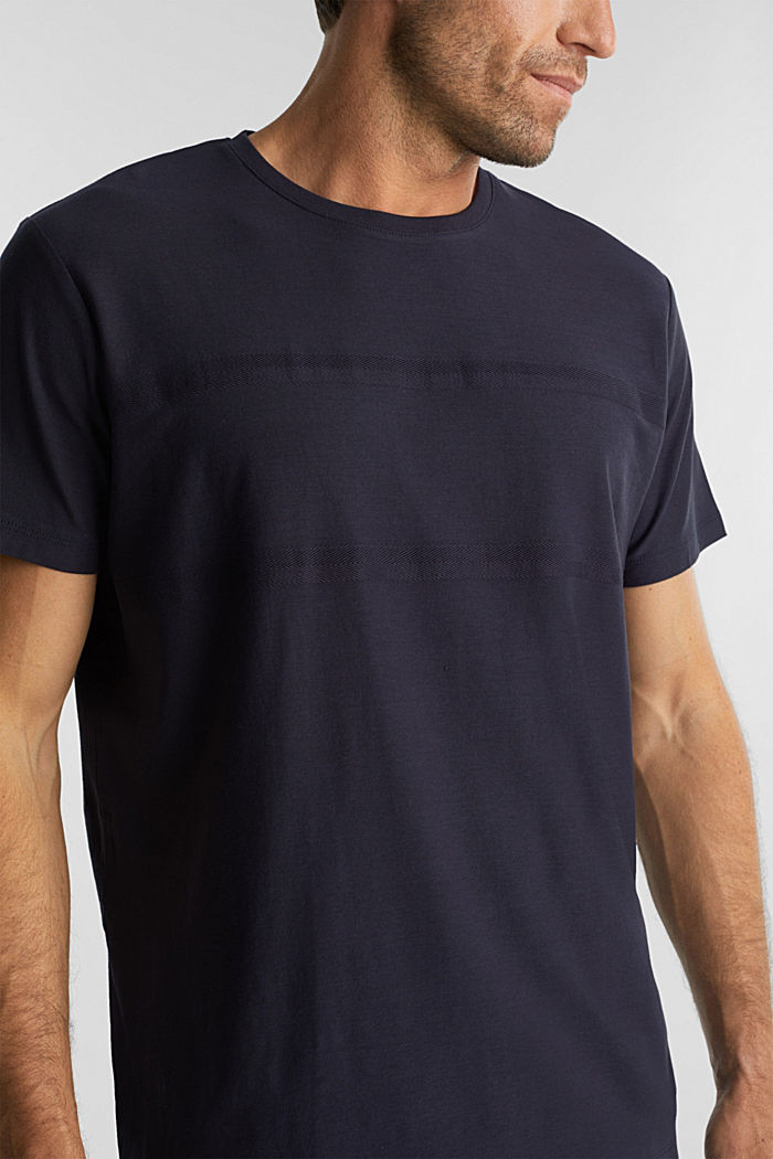 Jersey top in 100% organic cotton, NAVY, detail image number 1
