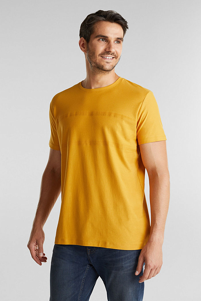 Jersey top in 100% organic cotton, BRASS YELLOW, detail image number 0