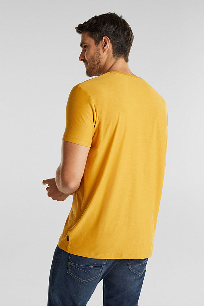 Jersey top in 100% organic cotton, BRASS YELLOW, detail image number 3