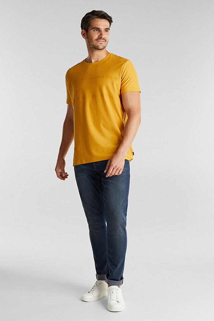 Jersey top in 100% organic cotton, BRASS YELLOW, detail image number 2