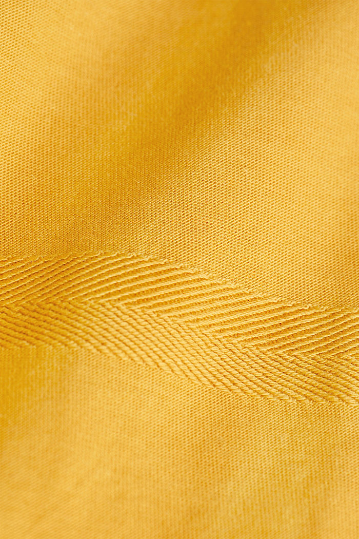 Jersey top in 100% organic cotton, BRASS YELLOW, detail image number 4