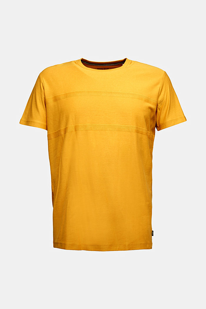 Jersey top in 100% organic cotton, BRASS YELLOW, detail image number 5