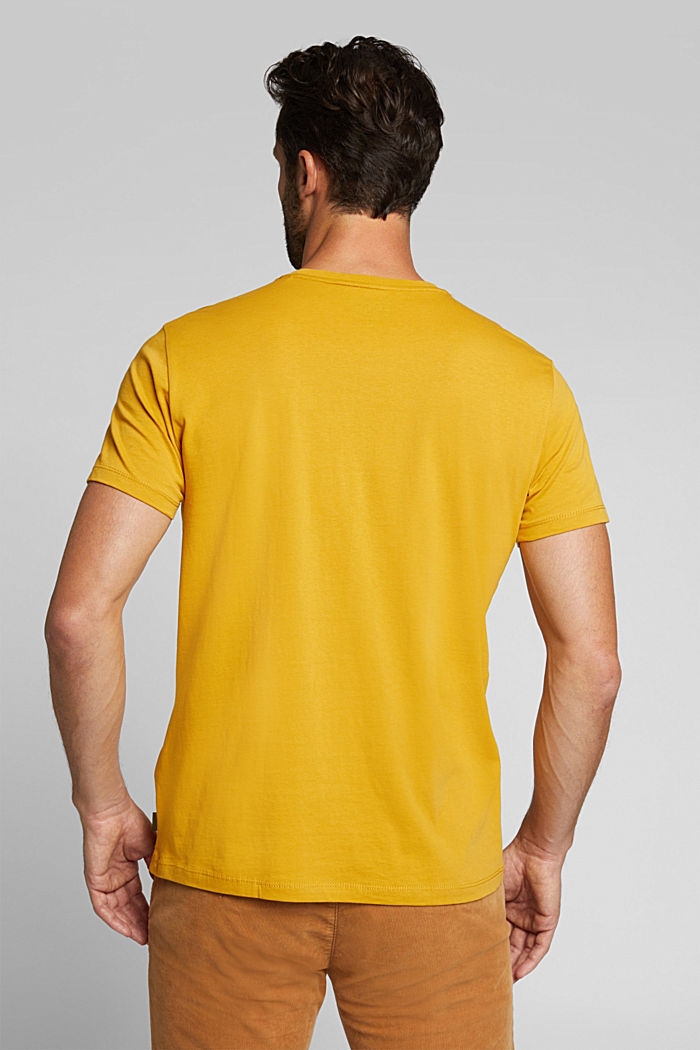 Jersey T-shirt made of 100% organic cotton, AMBER YELLOW, detail image number 3