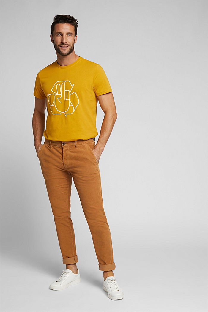 Jersey T-shirt made of 100% organic cotton, AMBER YELLOW, detail image number 2