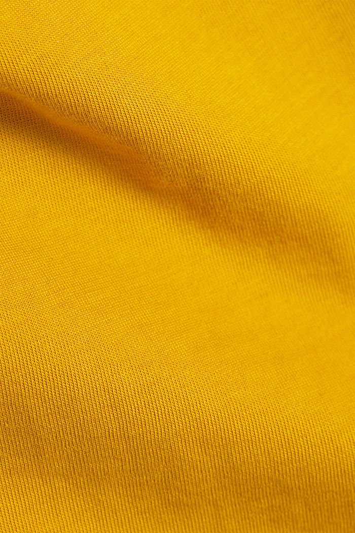 Jersey T-shirt made of 100% organic cotton, AMBER YELLOW, detail image number 4