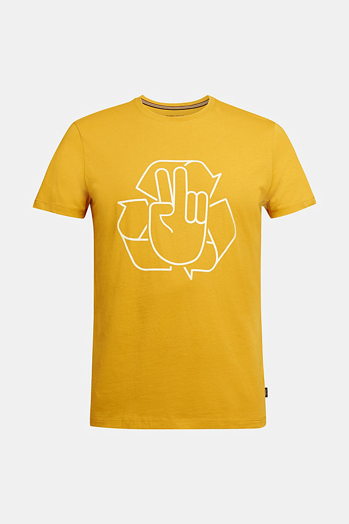 Jersey T-shirt made of 100% organic cotton, AMBER YELLOW, detail image number 5