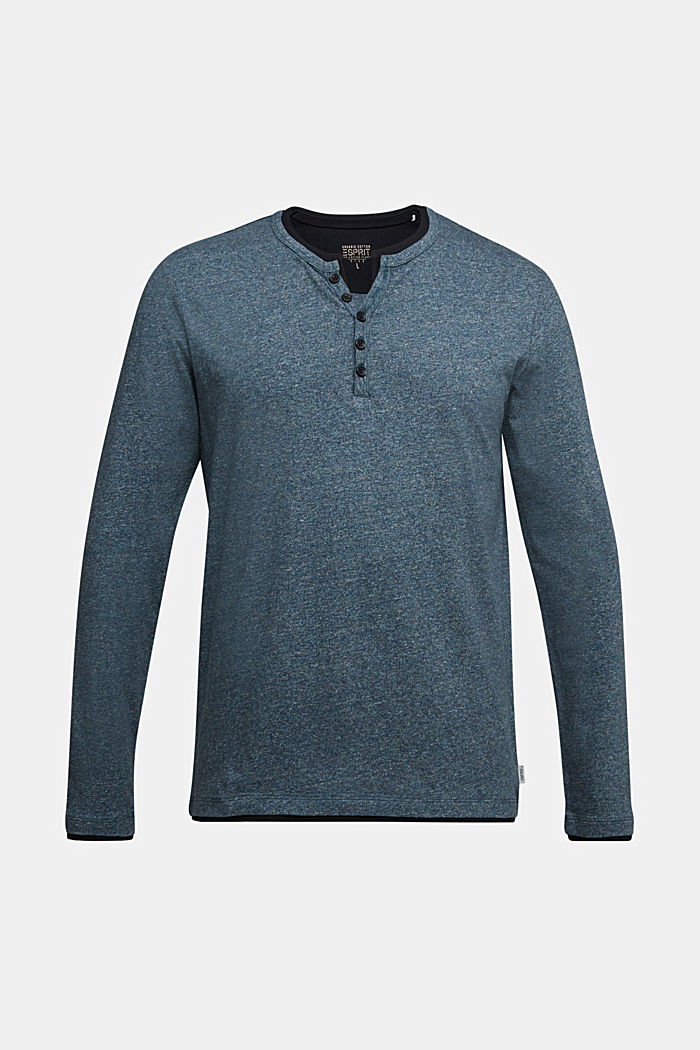 Jersey long sleeve top in 100% organic cotton, GREY BLUE, detail image number 5