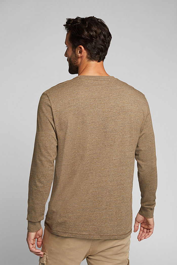Long sleeve jersey top, 100% organic cotton, TOFFEE, detail image number 3