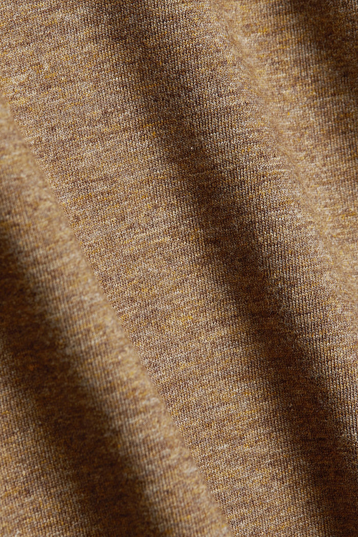 Long sleeve jersey top, 100% organic cotton, TOFFEE, detail image number 4