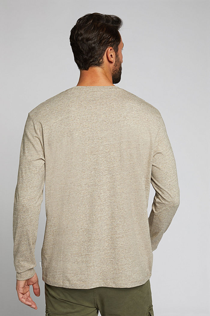 Long sleeve jersey top, 100% organic cotton, CREAM BEIGE, detail image number 3