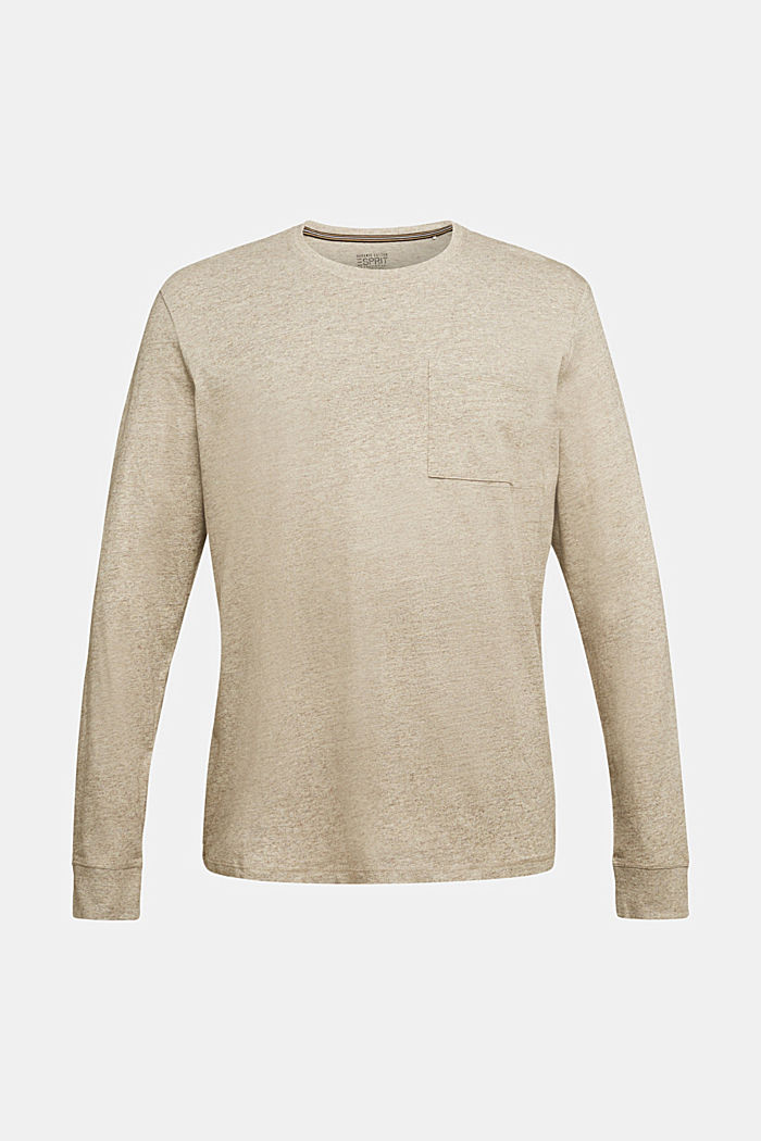 Long sleeve jersey top, 100% organic cotton, CREAM BEIGE, detail image number 5