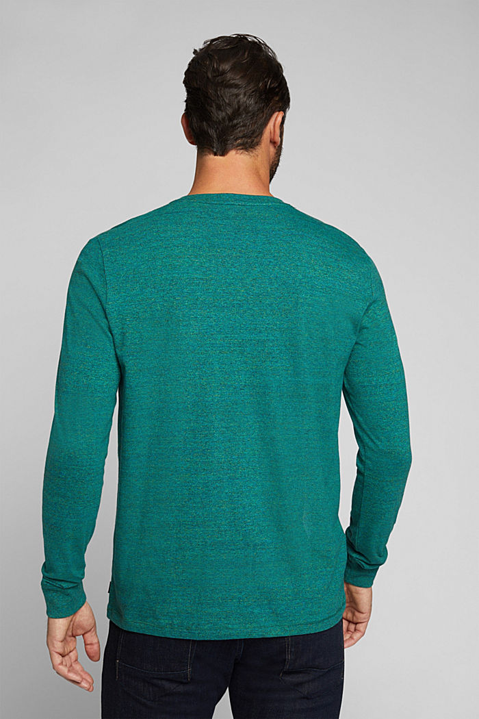 Long sleeve jersey top, 100% organic cotton, BOTTLE GREEN, detail image number 3