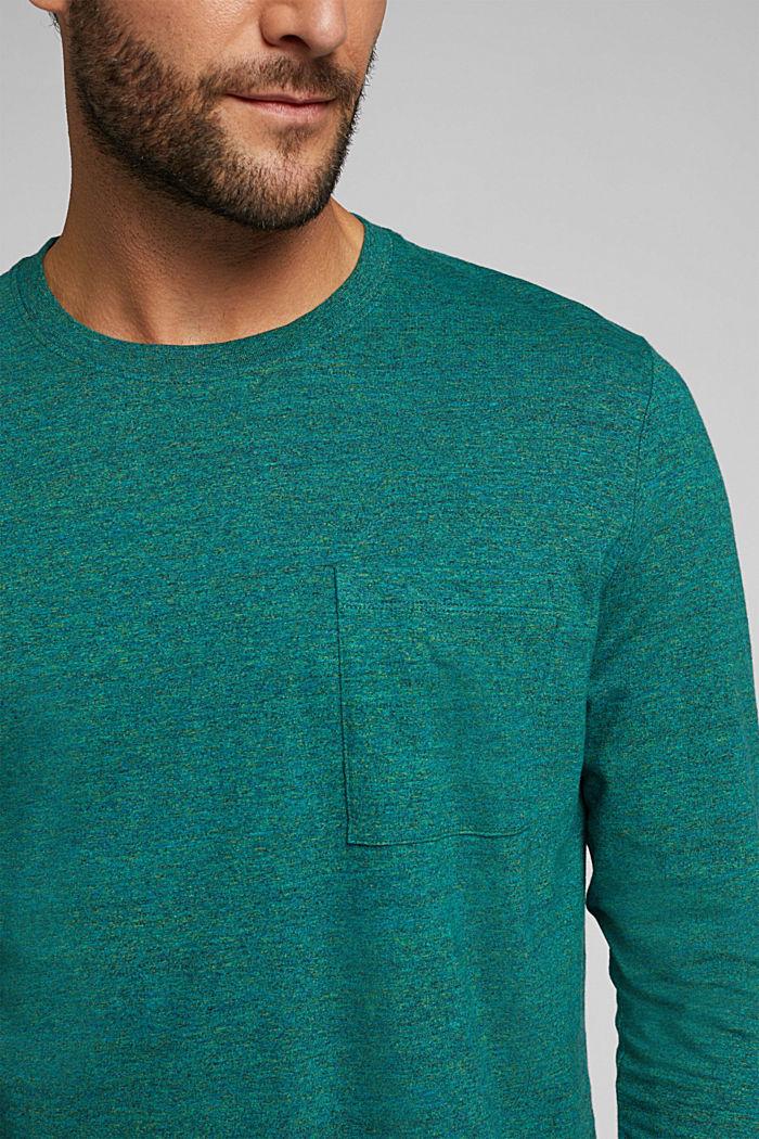 Long sleeve jersey top, 100% organic cotton, BOTTLE GREEN, detail image number 1