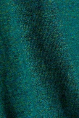 Long sleeve jersey top, 100% organic cotton, BOTTLE GREEN, detail