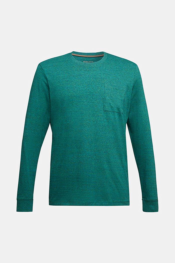 Long sleeve jersey top, 100% organic cotton, BOTTLE GREEN, detail image number 5