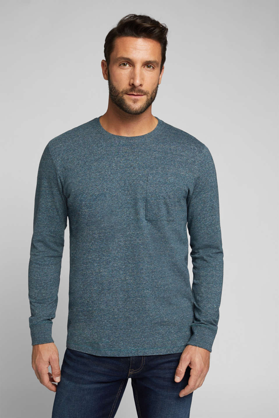 Esprit - Long sleeve jersey top, 100% organic cotton