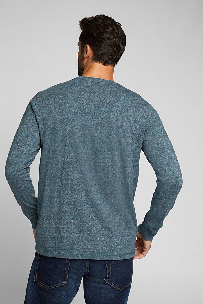 Long sleeve jersey top, 100% organic cotton, GREY BLUE, detail image number 3