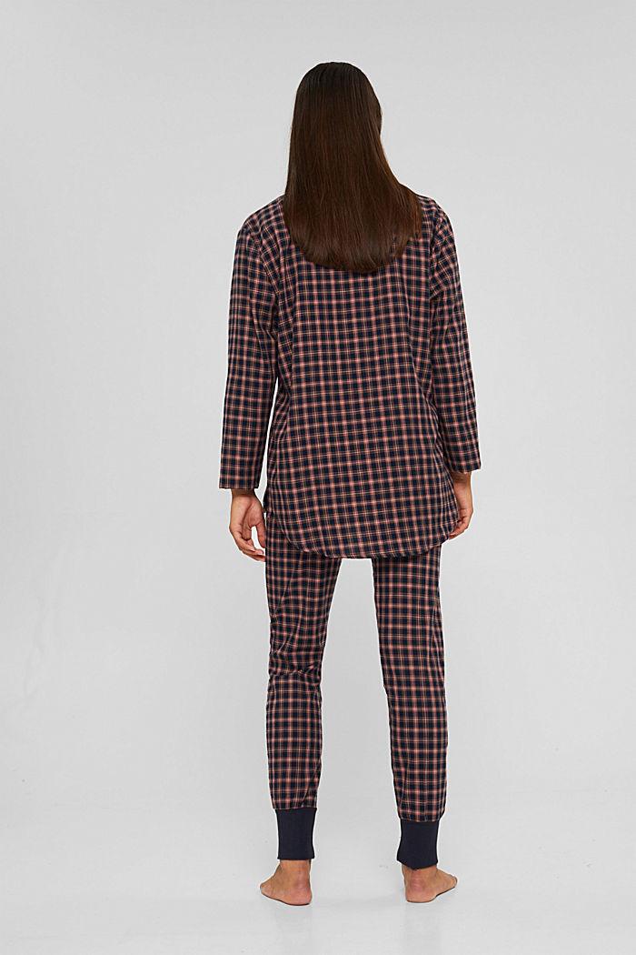 Pyjama aus 100% Organic Cotton, NAVY, detail image number 1
