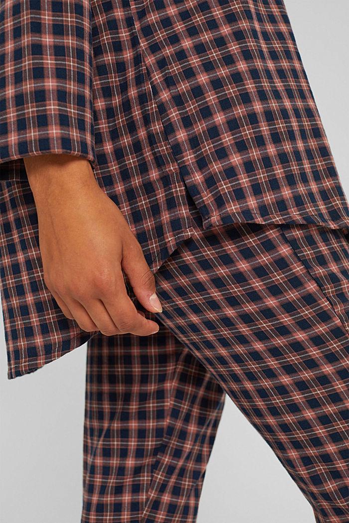 Pyjama aus 100% Organic Cotton, NAVY, detail image number 4