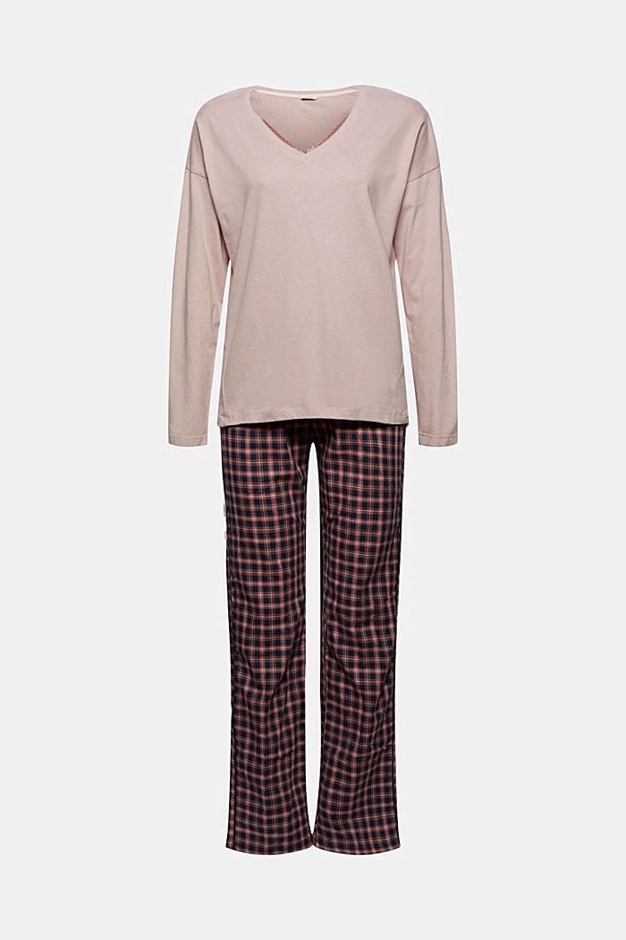 Pyjama aus 100% Organic Cotton, NAVY, detail image number 6